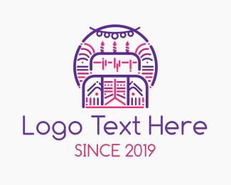 Birthday - Purple Celebration logo design