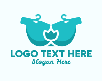 Dry Cleaner - Blue Tulip Laundry logo design