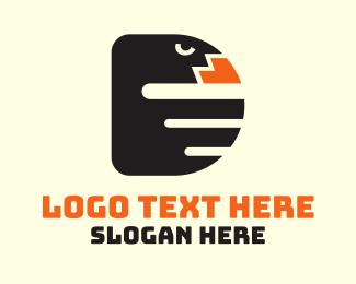 Twitch - Crow Bird Letter D logo design