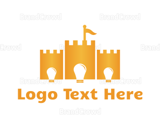 Bulb - Bright Castle logo design