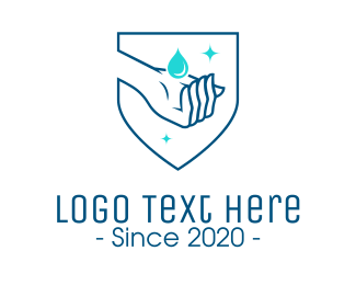 Sanitary - Hand Sanitizer Wash logo design