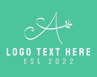 Beauty - Floral Letter A logo design