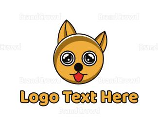 Cub - Yellow Circle Dog logo design