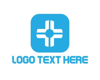 Drugstore - White Cross logo design