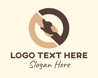 Negotiate - Circle Holding Hands logo design