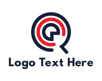 Amp - Music Letter Q App logo design