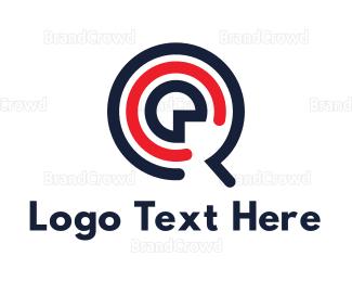 Cd - Music Letter Q App logo design