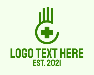 Nursing - Medical Hand Cross  logo design