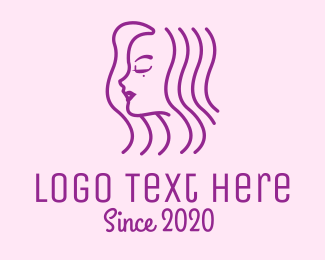 Celebrity - Beauty Purple Lady Hair logo design