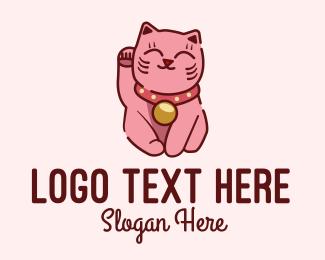 Kitty Cat - Cute Asian Cat logo design