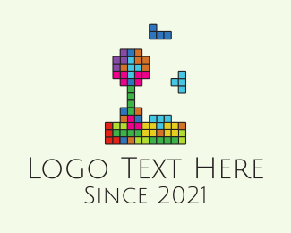Tetris - Multicolor Tetris Game logo design