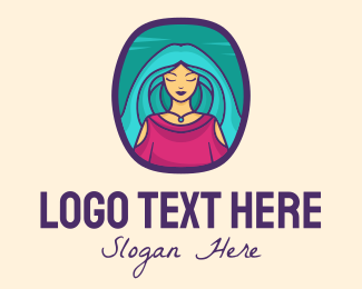 Tarot Card - Woman Beauty Salon logo design