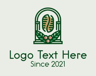 Arch - Coffee Bean Arch logo design