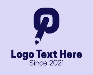Ballpen - Pencil Letter Q  logo design