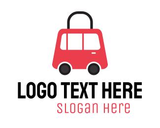 Shopping Delivery - Vehicle Shopping Bag logo design