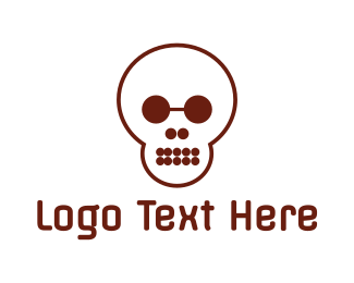Educational - Circle Shape Skull logo design