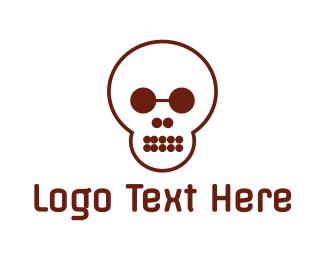 Educational - Circle Shape Skull logo design