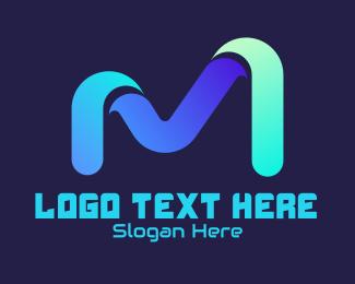 """""""Futuristic Tech Letter M """" by RistaDesign"""