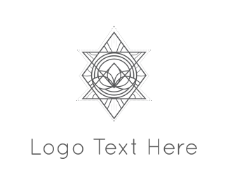 Wellness - Abstract Triangles logo design