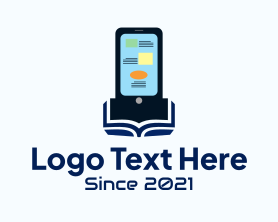 Social Media - Mobile Phone Ebook logo design