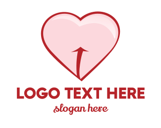 Sexy - Red Pink Heart logo design