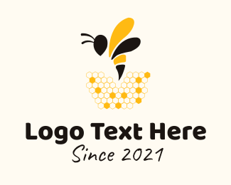 Insect - Honeybee Insect logo design
