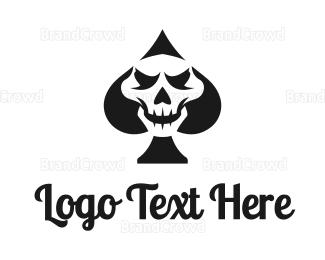 Card Game - Spade Skull logo design