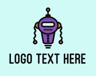 Technology - Purple Robot Technology logo design