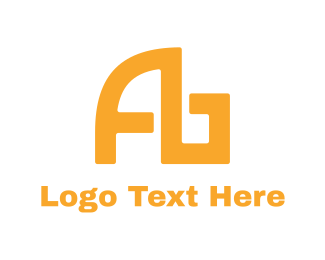 Ab - Modern Yellow AB logo design