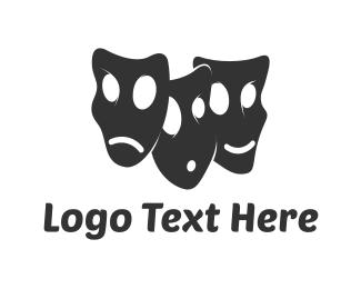 Comedy - Drama Faces logo design