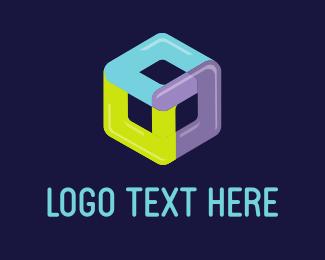 Bold - Balloon Cube logo design