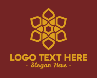 Gold - Gold Ornamental Flower logo design