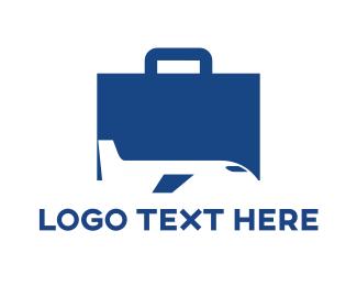 Airline - Logistics Briefcase logo design