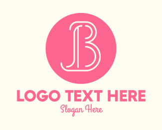 Fashion Accesories - Pink Beauty Letter B logo design