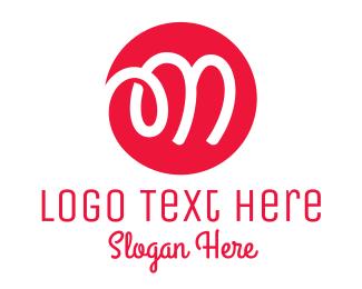 Pasta - Red Doodle Letter M  logo design