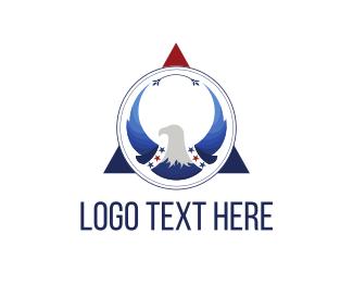 Patriotic - Eagle Triangle logo design