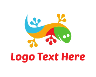 Colorful Gecko Logo