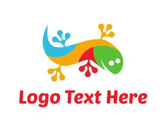 Reptile - Colorful Gecko logo design