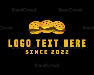 Deli - Three Burgers logo design