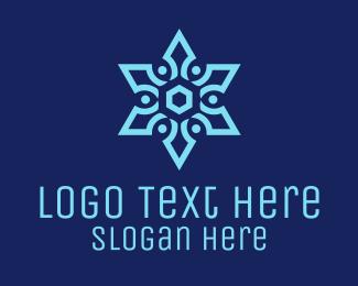 Pattern - Snowflake Pattern logo design