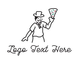 Italian Restaurant - Pizza Chef logo design