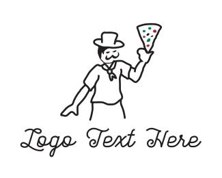 Rome - Pizza Chef logo design