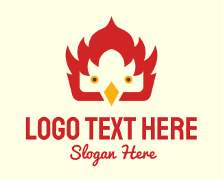 Bbq Chicken - Fire Bird logo design