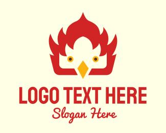 Hawk - Fire Bird logo design