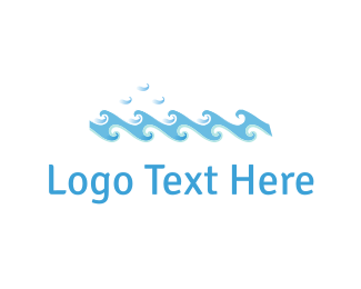 Surf - Blue Waves logo design