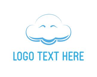 Weather - Happy Cloud logo design