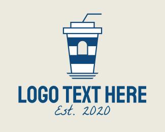 Seaside - Seaside Lighthouse Coffee Cafe logo design