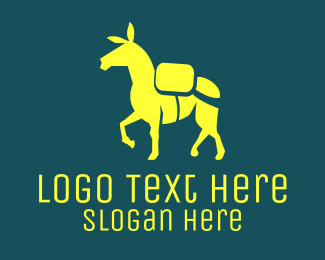 Shepherd - Yellow Donkey  logo design