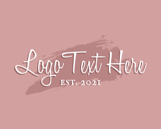 Feminine  Product - Beauty Makeup Wordmark logo design