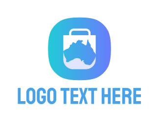 Mobile Phone - Australia App logo design